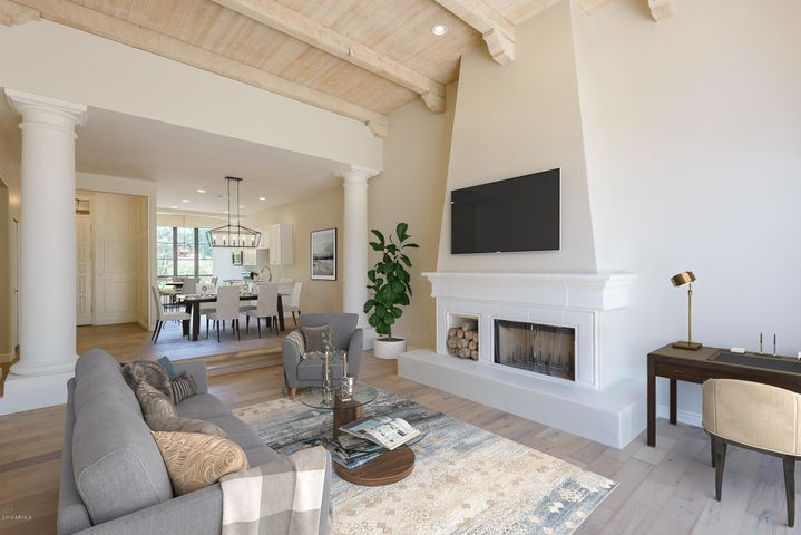 Staged! Look at this wonderful entertaining space!