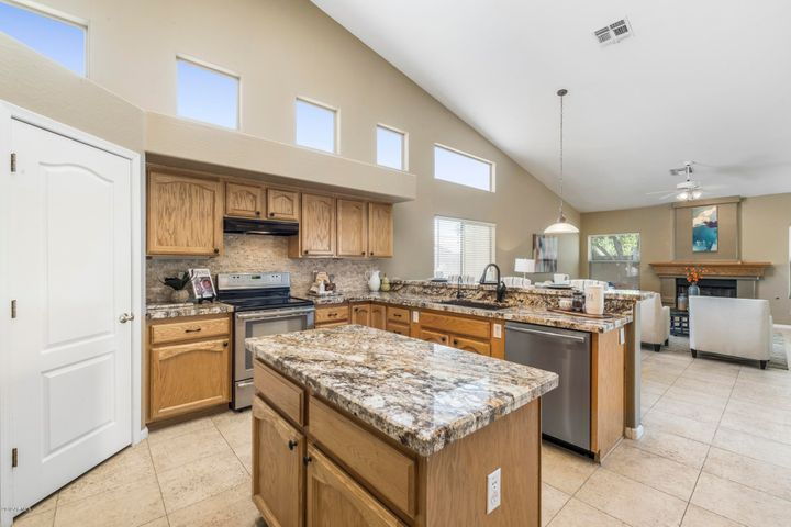 Room for everyone in this open concept kitchen!