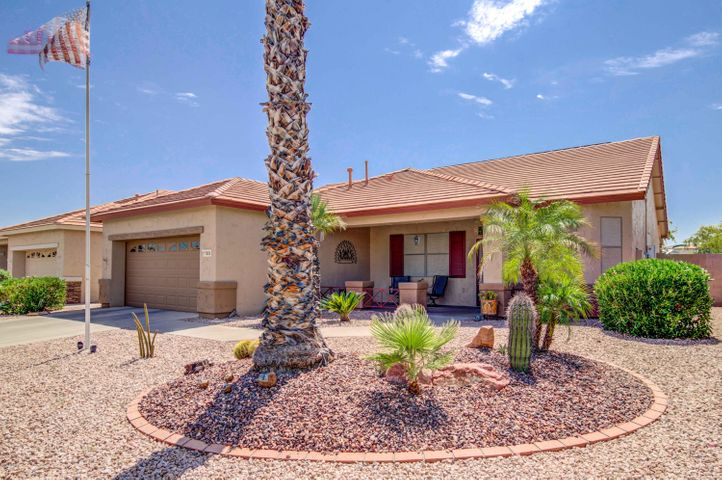 This lovely home is located in the guard-gated 55+ community of Arizona Traditions. Arizona Traditions has the amenities offered in age-restricted communities, but with a small town feel!