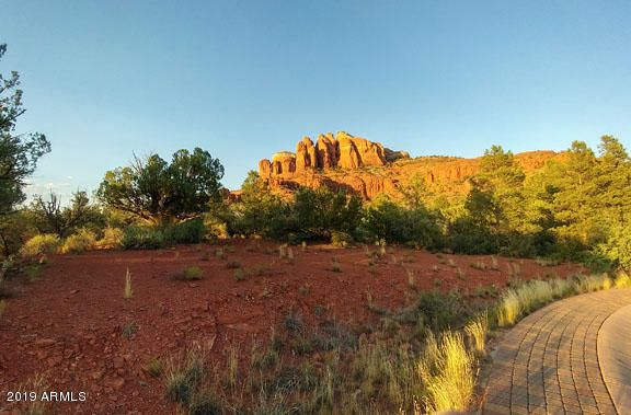 View of Cathedral Rock & lot from W. corner of lot