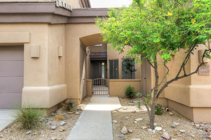 Semi-Private courtyard entry in a gated community