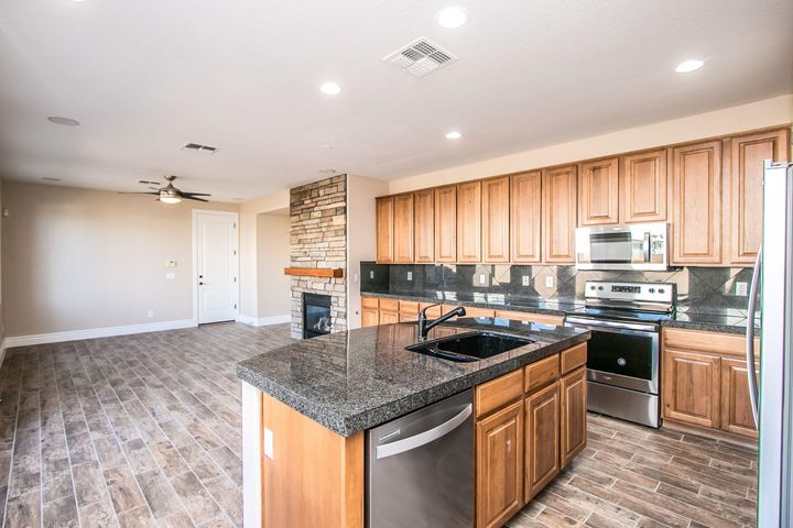 From entry into kitchen to family room