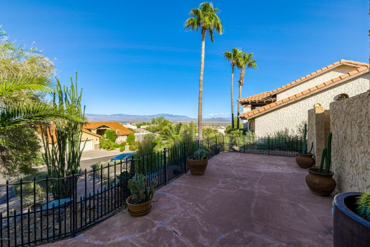 View of the Fountain and Four Peaks off of the front patio!