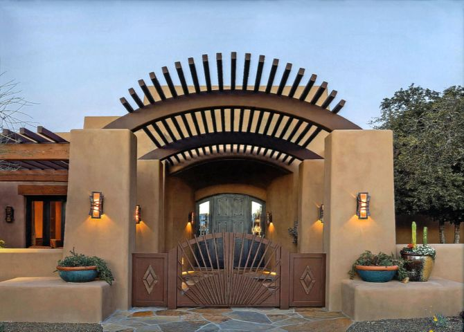 Pueblo style smart home designed by Lee Hutchison and built by Randy Arnet Builders