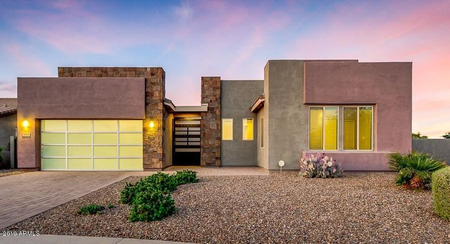 Large corner lot with contemporary design