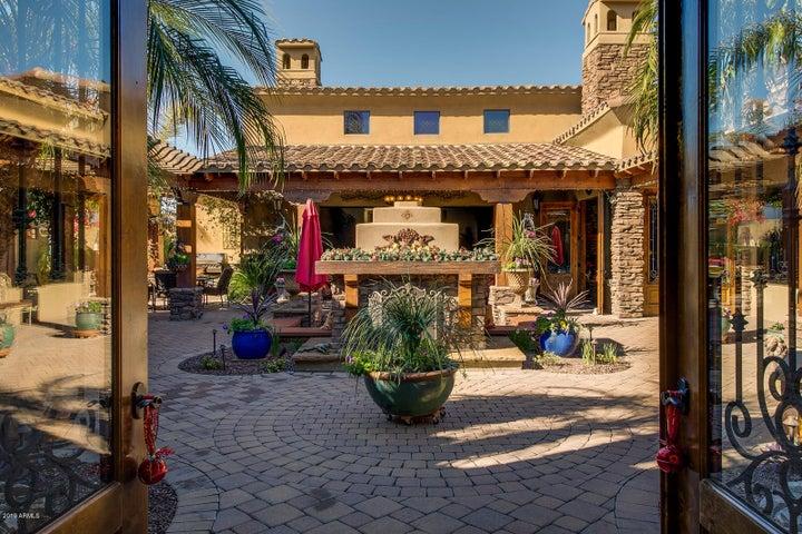 Entry into courtyard