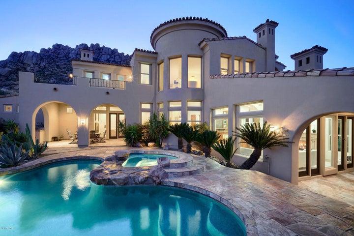 Striking California Mission Architecure from Pool & Rear Yard