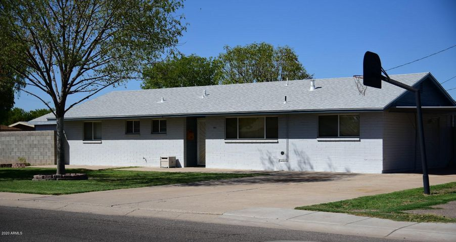 3-bedroom, 1.75 bath home on corner lot, with air-conditioned shed.