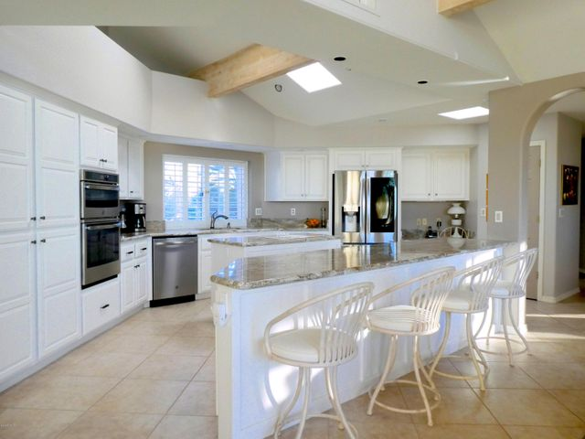 NEWER SLAB GRANITE & REFINISHED CABINETS WITH HARDWARE