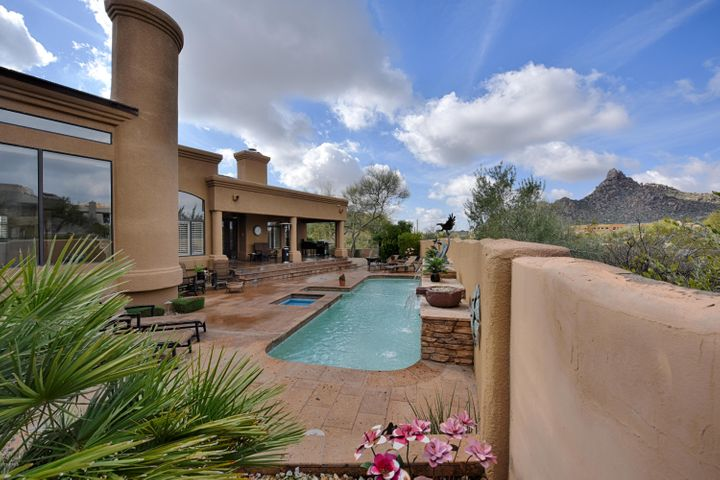 Fabulous Views Of Pinnacle Peak From the Pebble Tec Lap Pool!