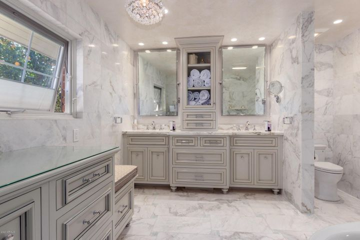 Beautiful Master Bath with Heated Floors