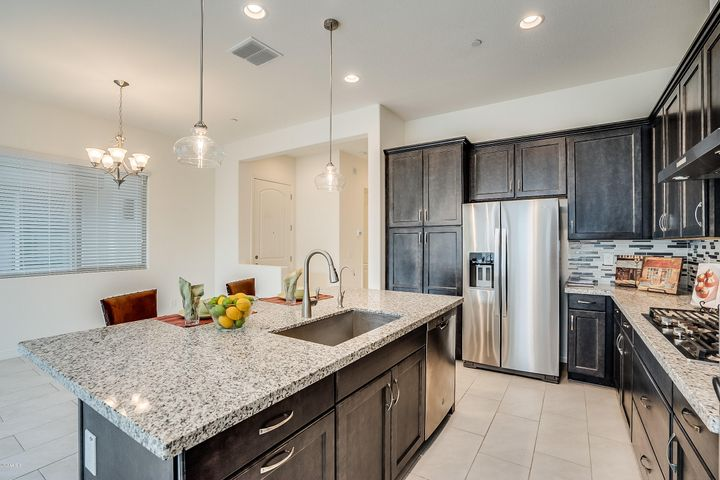 Enjoy conversation and great food in this gourmet kitchen