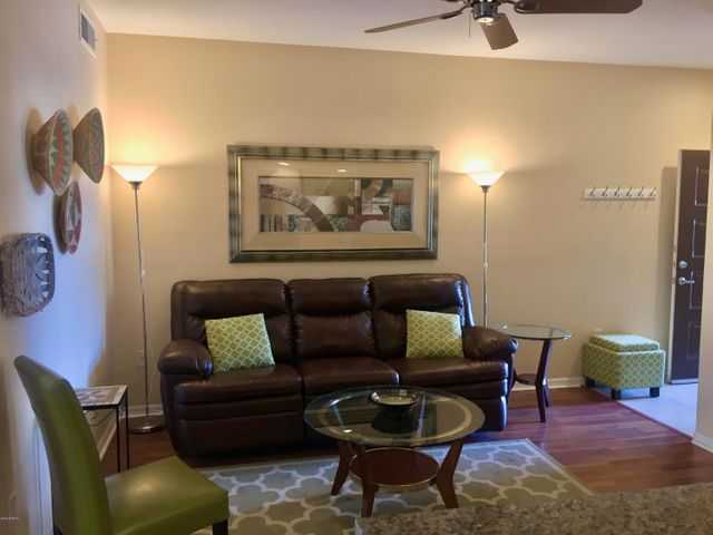 Two tone paint, ceiling fans and no carpeting!