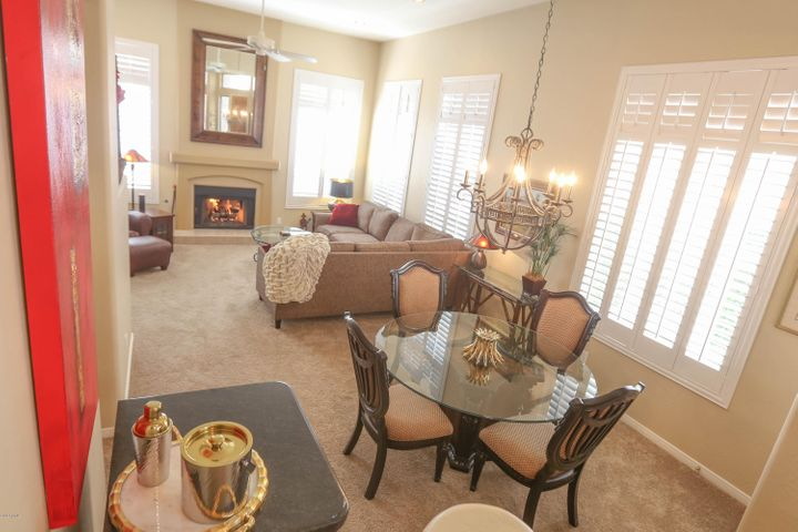 Living/Family/Dinning Room/Cozy Warm Fireplace/Plantation Shutters