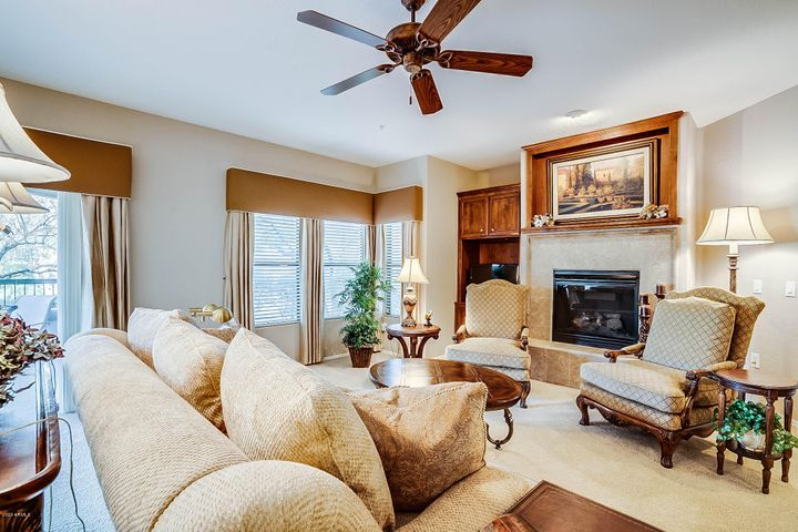 An abundance of natural light graces the Living and Dining Rooms.