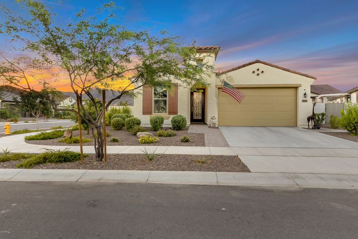 Situated on a large corner lot with mountain views!