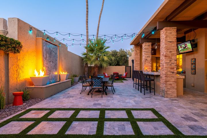 You won't want to leave the outdoor oasis