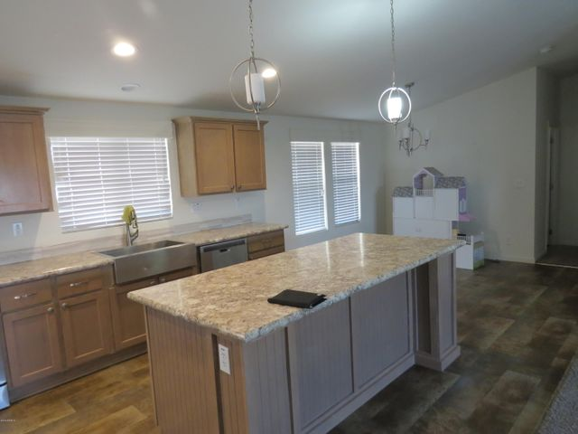 granite kitchen counter with island