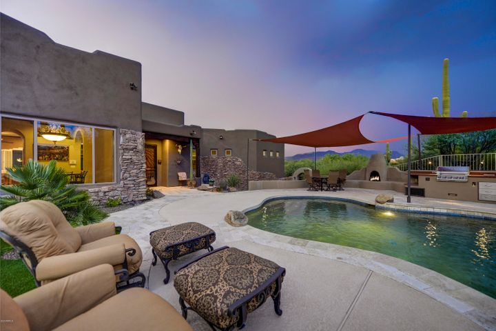 Pool side seating at your heated pool.