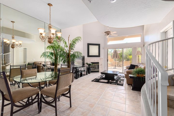Expensive floor plan with great room, gas fireplace, high vaulted ceiling's along with dining area