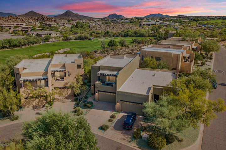 Welcome home to this amazing golf course home with mountain views from every side of the home!