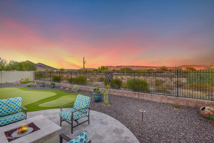 Truly a spectacular lot with plenty of space and view fencing out to desert, golf, and mountain views