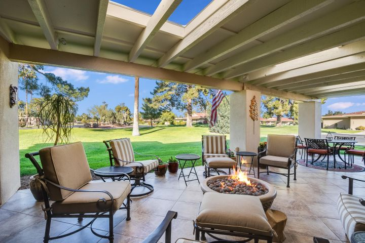 A true Patio Home with large covered patio.