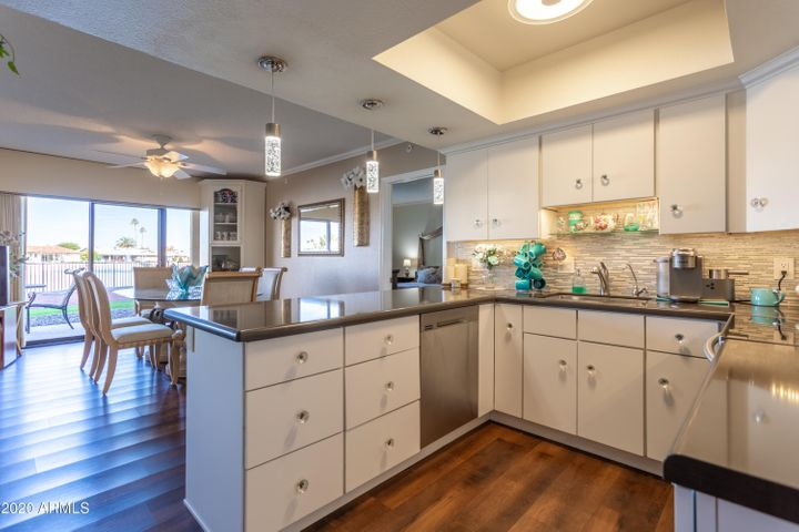 Beautiful new cabinets and great floor plan in this amazing kitchen remodel