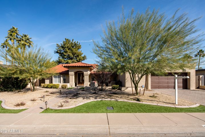 Gorgeous curb appeal! Located in a cul-de-sac. Pavers fill the driveway, walking path and large front courtyard.