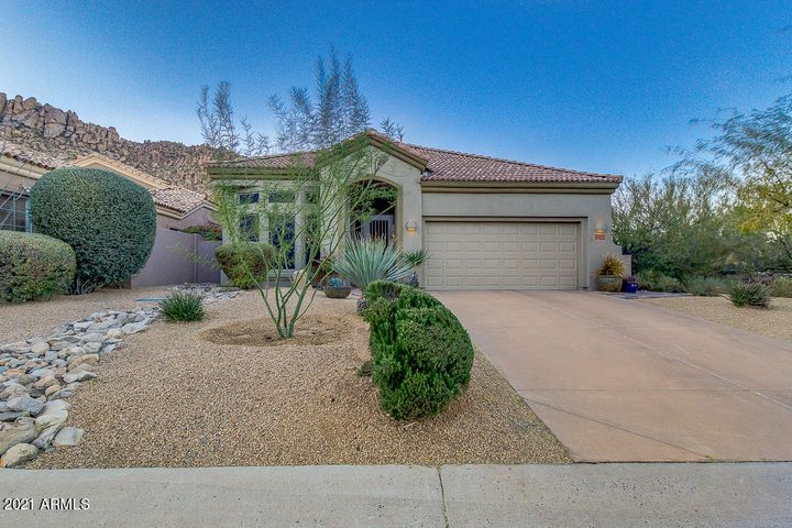 Welcome to your new home in Troon Village - Saddleback. This home is nicely situation on a cul-de-sac street, on the corner lot.