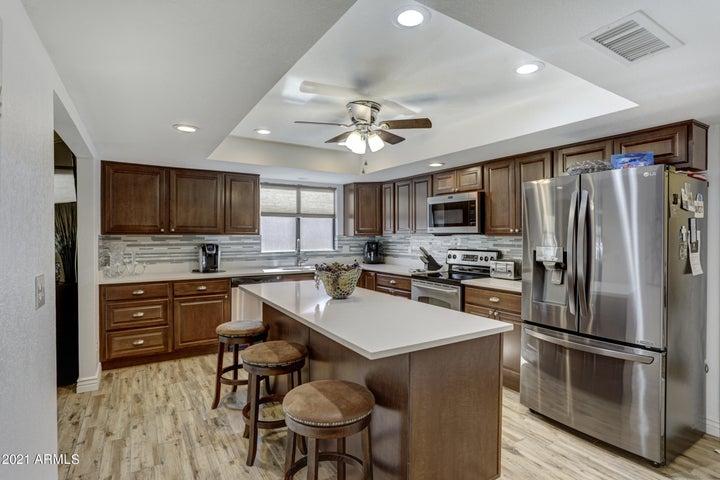 WOW this kitchen island all quartz