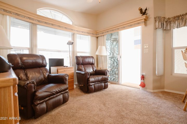 You'll appreciate this super clean 2002 park model with vaulted and high ceilings.