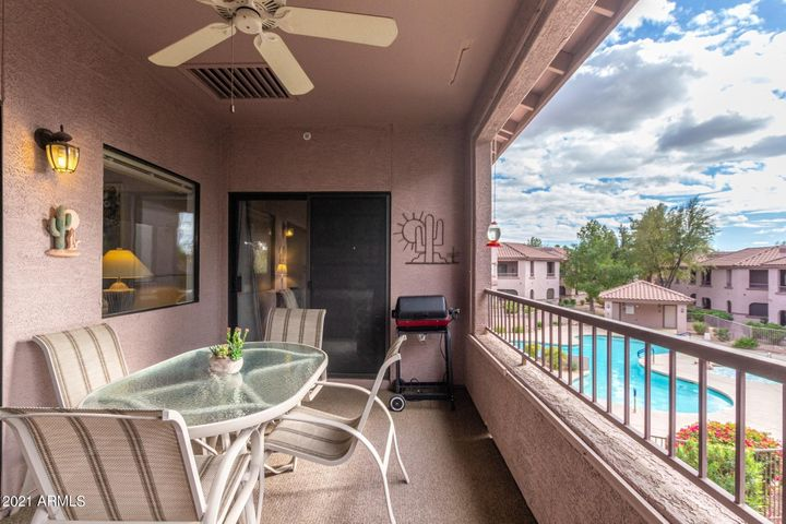 You'll love the views from this unit, overlooking the pool yet very private!