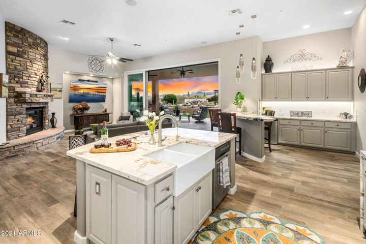 The open concept gives the home a current feel and is perfect for entertaining.