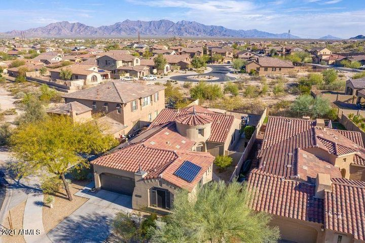 Architecturally inspired Spanish Mission style home in Mesquite Highlands at Estrella.