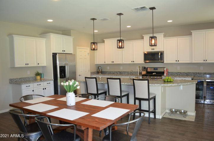 Open and bright modern kitchen with tons of upgrades