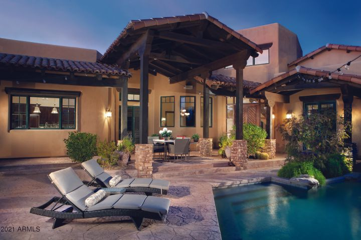 Privacy and Serenity at your courtyard pool and outdoor kitchen