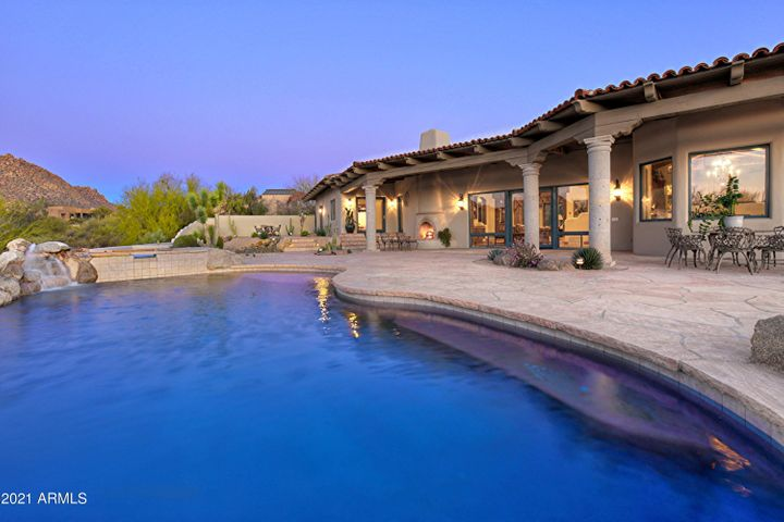 Patio and Pool with Mountain Views