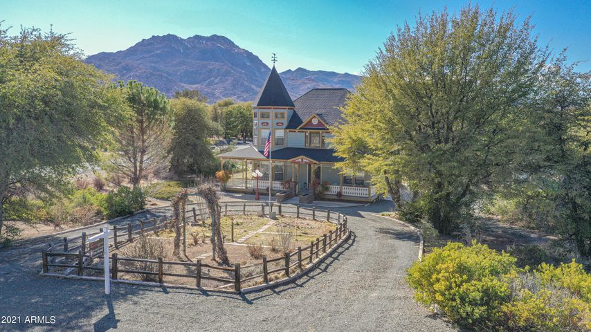 Located on nearly an acre with incredible views of Granite Mtn views