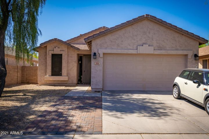 Welcome home to this Dobson Place stunner. 3 bedroom 2 bath, pool, 2 car garage. Move in ready!