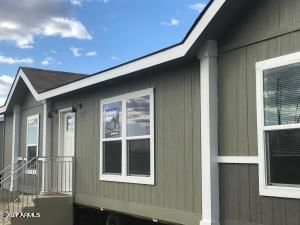 House color is called Sylvan can be looked up on ppgpaints.com for color match. claytonhomes.com FAWN model