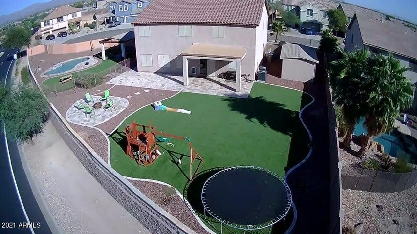 drone shot back yard