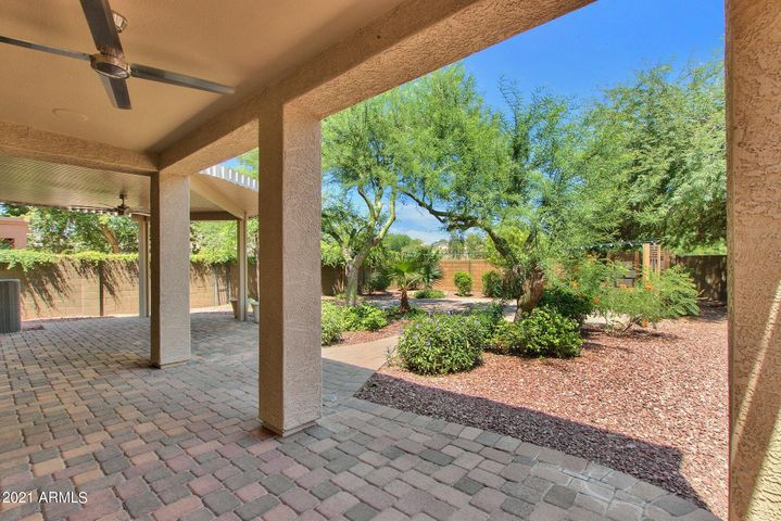 Extended covered patio and extensive use of pavers with no homes directly behind! Backs to greenbelt!