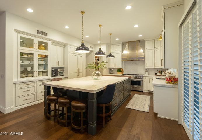 Calcutta Marble Slab Counters and Island