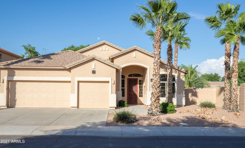Home is situated on gorgeous corner lot in popular Fox Crossing