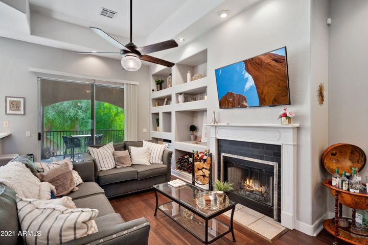 Cozy up to this fireplace!