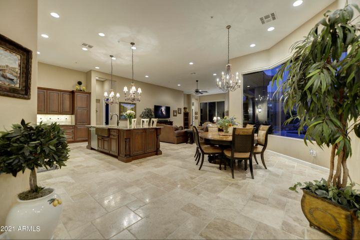 Eat in kitchen with great look at kitchen & family room