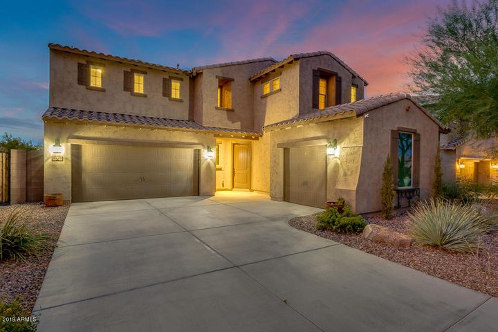 BIG, BEAUTIFUL, MERITAGE HOME Coronado floor plan - INCREDIBLY ENERGY EFFICIENT with MAJESTIC MOUNTAIN VIEWS ON A FUN, NEIGHBORLY STREET!! Low utility costs! Features a GIANT loft, roomy pantry, large laundry room, den, pocket office, 3-car garage, DREAM 8 1/2 x 20 master closet w/ custom built-ins, 3 windows for natural light, & LOTS of room for all of your clothes! Energy Star appliances, LowE2 windows, SEER 14 HVAC, weather-sensing irrigation, & water efficient features.  Oversized lot w/ putting green, large grass area, paver patio & spectacular mountain views! Brand new community recreation center with sparkling pool, fitness center and more...just down the street!  EDUPRIZE A+ Charter School 3 minutes away! CALL FOR MORE INFO TODAY!