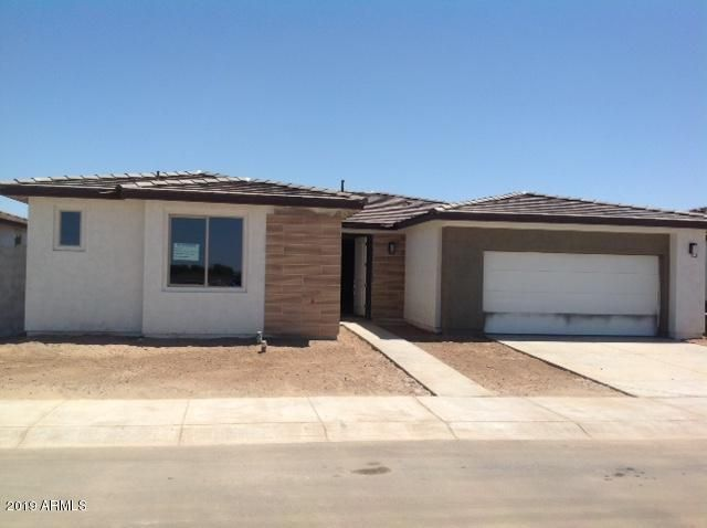BRAND NEW Spec home (under construction) in the newest  55+ Active Adult gated community in the East Valley. This beautiful, very open 1-story home includes a large open kitchen and great room. 2 Bdrms + Den & 2 1/2 Baths. Large Walk-In Shower in Master Bath. Stainless steel kitchen appliances. Front Yard landscape & MAINTENANCE included. Other included features: 9 ft Ceilings, Tankless water heater, Soft Water Loop, Garage Service Door, Garage Door Opener, 2-Tone Paint, and Large covered patio. Dual Energy home. 3-Year Builder Warranty & Service Plan. Ovation at Meridian includes Private Gated Entry, Heated Community Pool & Spa, Pickleball courts, Tennis courts, Fitness Facility, Billiards Room, Putting & Pitching area, Dog Parks and many, many more private amenities!