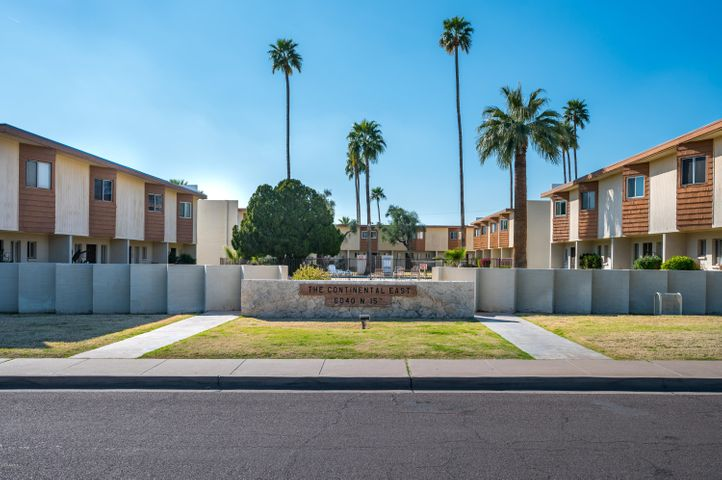 Welcome home to this charming, two-story townhome in the well-maintained community of Continental East. On the first floor, you'll find the living room, which opens up to the private patio, and spacious kitchen, complete with butcher block counter tops and plenty of cabinet storage space. The second floor bedrooms offer peaceful views of Camelback Mountain. The enclosed patio is located near the assigned, covered parking space and features a storage unit and laundry closet. This prime North Central location cannot be beat! Enjoy easy access to AZ-51 and several local favorites, such as Dick's Hideaway, Luci's Marketplace, The Vig Uptown, and Zipp's Sports Grill.